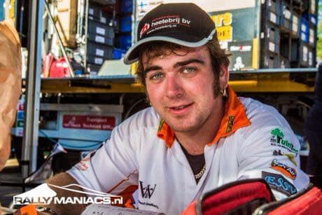 Jasper Riezebos na ss1 Dakar 2015