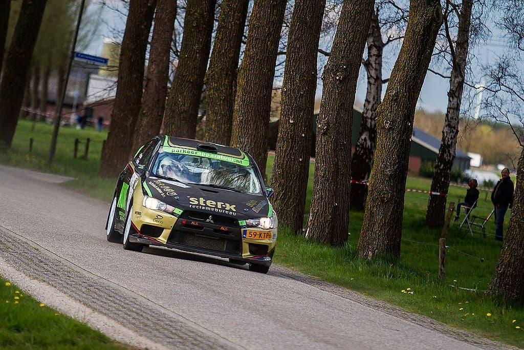Antoine van Ballegooijen - Mitsubishi Lancer Evo X - Rally van Putten 2015