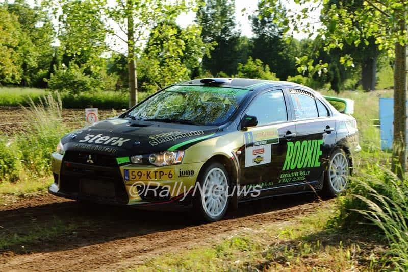 Antoine van Ballegooijen - Mitsubishi Lancer Evo X - ELE Rally 2015