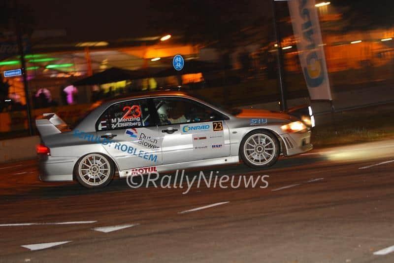 Martin Menzing & Alex Eisenberg - Mitsubishi Lancer Evo VII - Conrad Euregio Rally 2015