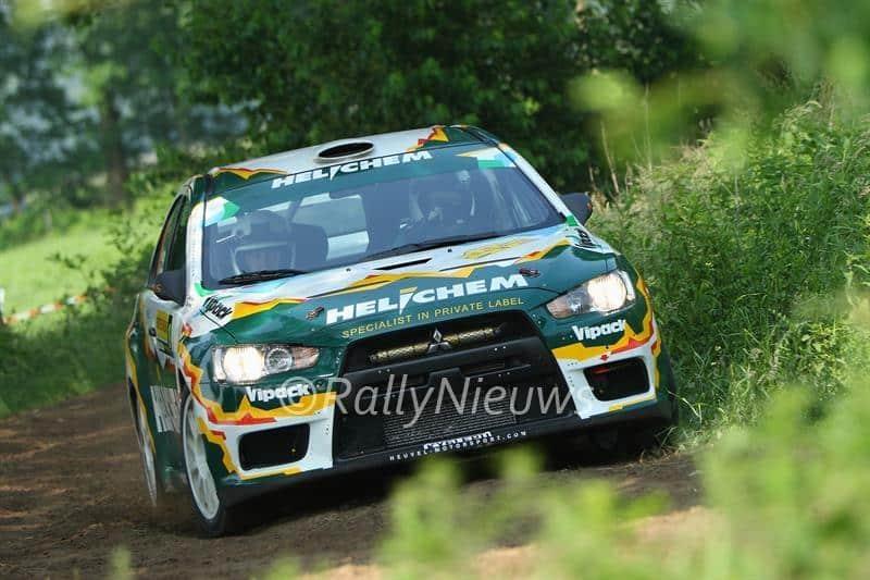 Henk Vossen & Rene Smeets - Mitsubishi Lancer Evo X - ELE Rally 2016