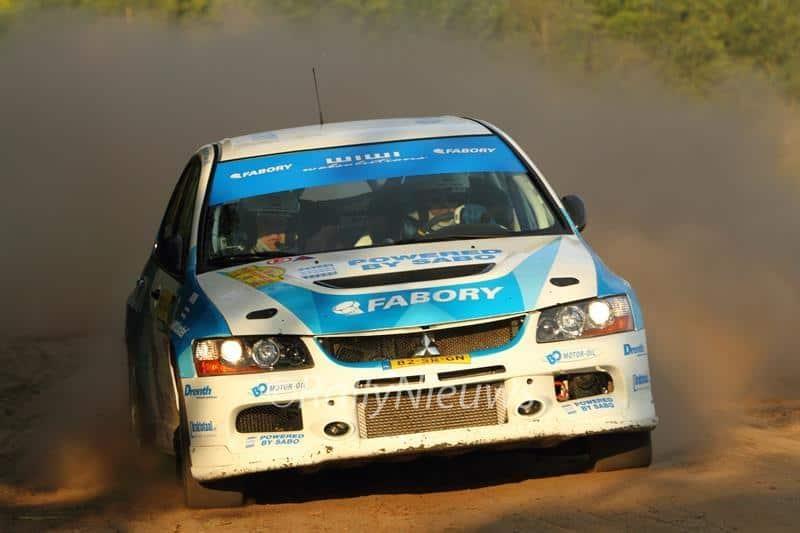 Johan Faes & Christiaan van der Rijsen - Mitsubishi Lancer Evo IX - ELE Rally 2014