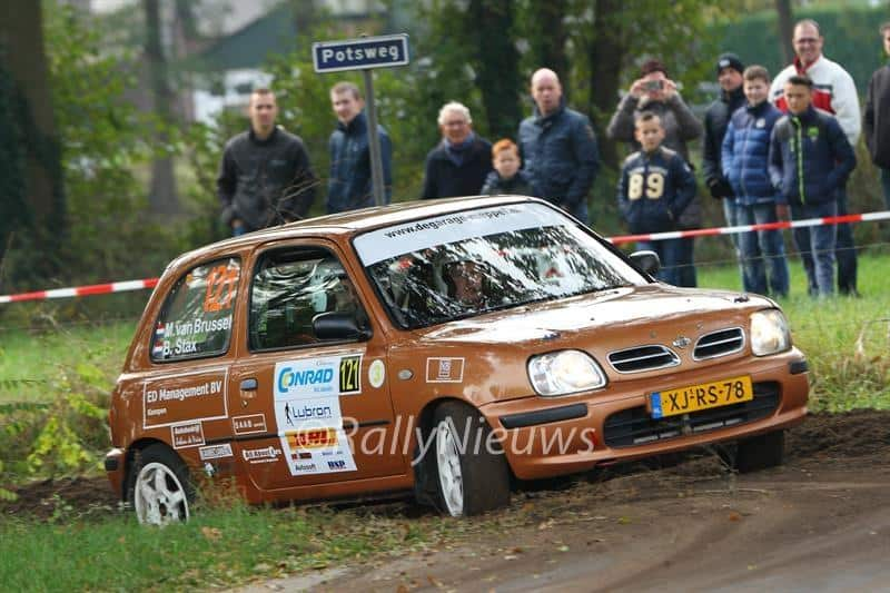 Martin van Brussel & Bart Stax - Nissan Micra - Twente Rally 2016