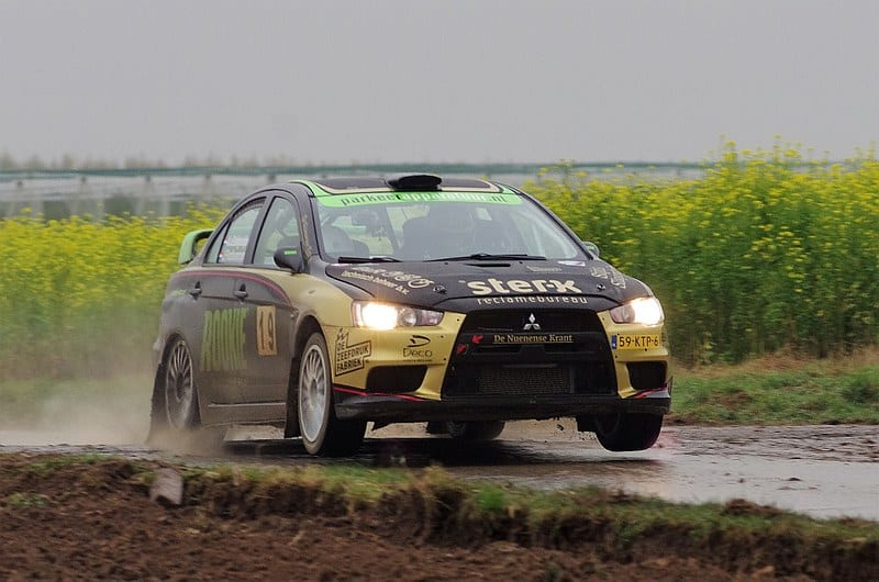 Antoine van Ballegooijen & Johan Findhammer - Mitsubishi Lancer Evo X - Rally van Zuid Limburg 2016