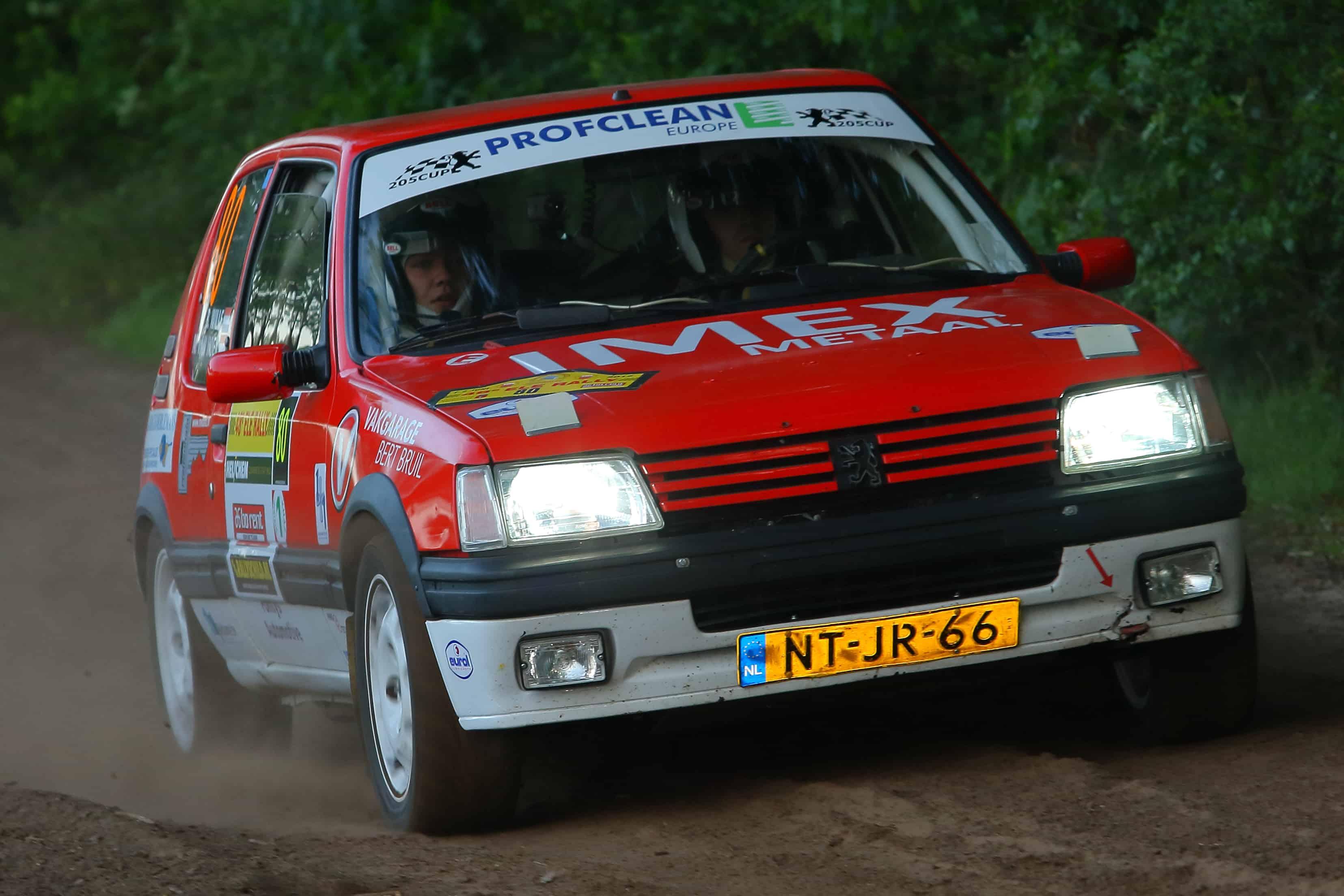 Martijn van Hoek - Peugeot 205GTi - ELE Rally 2011