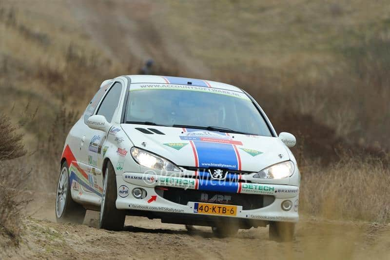 Bart Geerdink & Bart Stax - Peugeot 206 Kitcar - Circuit Shortrally 2013