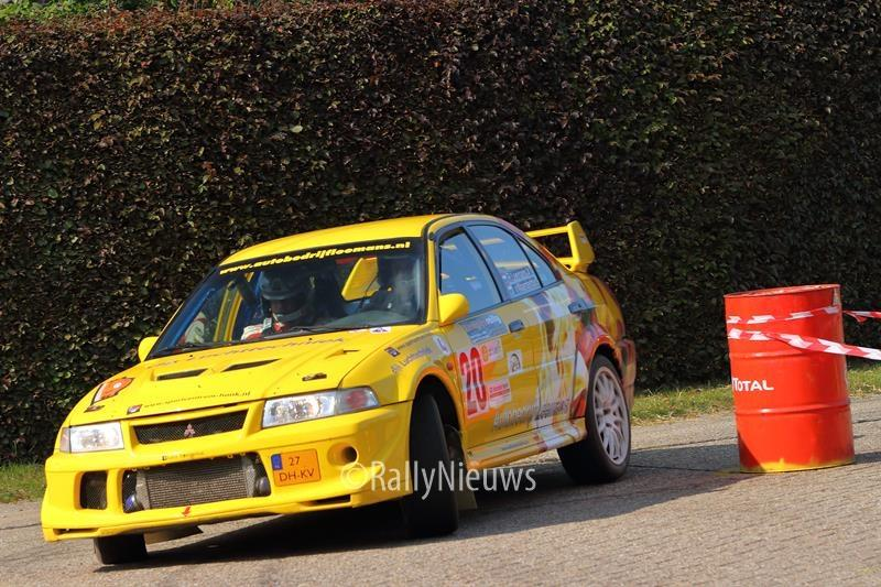 Roald Leemans & Christiaan Paul van Waardenburg - Mitsubishi Lancer Evo V - Short Rally Kasterlee 2017