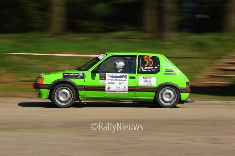 Roel van der Zanden & Paul Geerts - Peugeot 205 GTI - OVD Groep Short Rally 2011