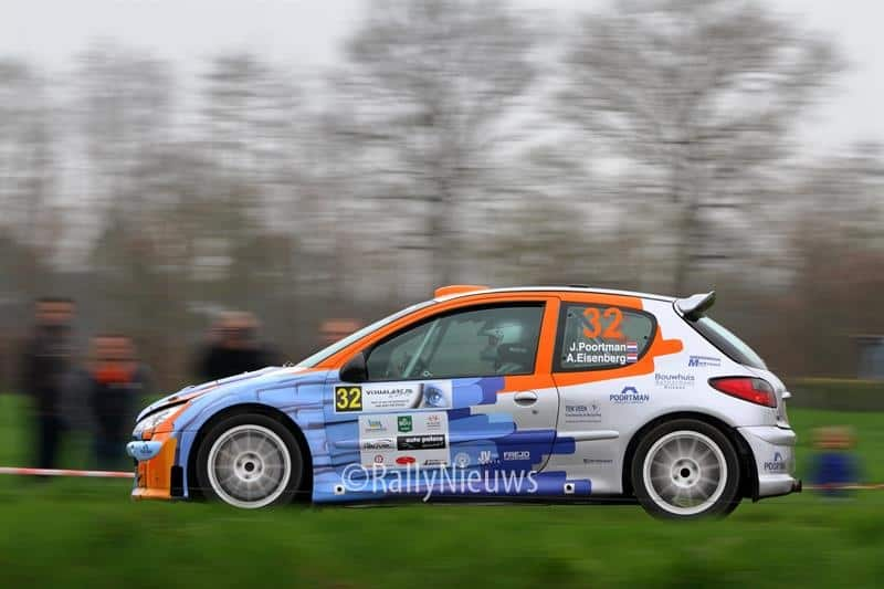 Jan Poortman & Alex Eisenberg - Peugeot 206 s1600 - Visual Art Rally 2018