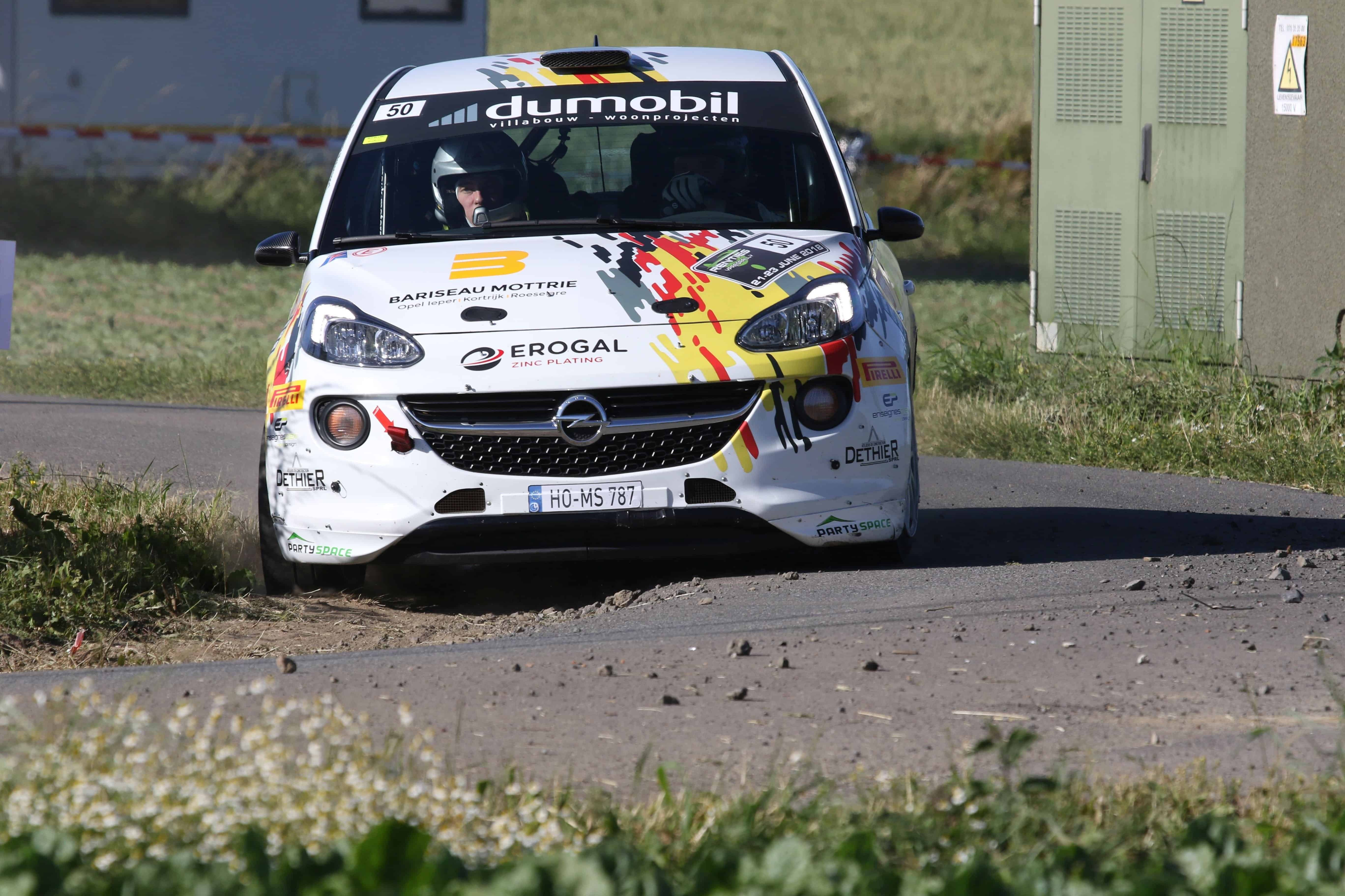 Gregoire Munster & Louis Louka - Opel Adam R2 - Ypres Rally 2018