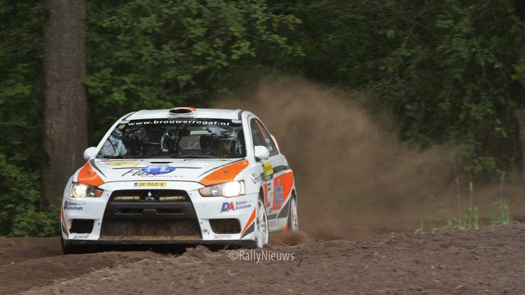 Pierre Brouwer & Paul Helmink - Mitubishi Lancer Evo X - ELE Rally 2019