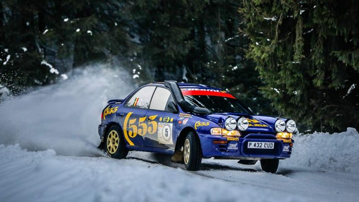 Charles Munster & Jasper Maelfait - Subaru Impreza 555 - Romania Historic Winter Rally 2020